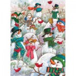 Puzzle  Cobble-Hill-85081 XXL Pieces - Hill of a Lot of Snowmen