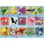 Puzzle  Cobble-Hill-85083 XXL Pieces - Origami Animals