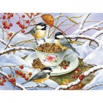 Puzzle  Cobble-Hill-88001 XXL Pieces - Chickadee Tea