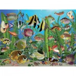 Puzzle  Cobble-Hill-88003 XXL Pieces - Aquarium