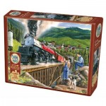 Puzzle  Cobble-Hill-88009 XXL Pieces - Steaming Out of Town