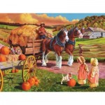 Puzzle  Cobble-Hill-88010 XXL Pieces - Hay Wagon