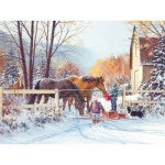 Puzzle  Cobble-Hill-88018 XXL Pieces - First Snow
