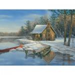 Puzzle  Cobble-Hill-88021 XXL Pieces - Winter Cabin