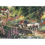 Puzzle  Cobble-Hill-88028 XXL Pieces - Carriage Ride
