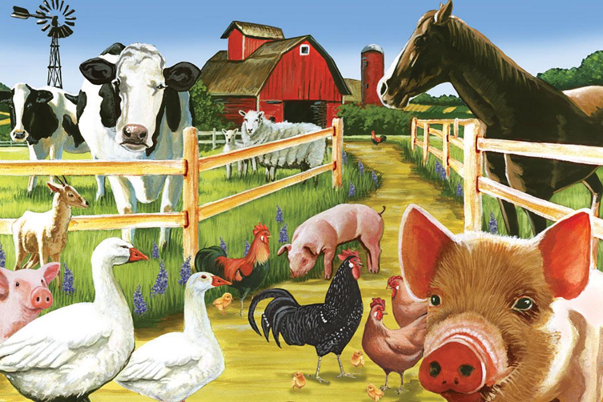 или картинка скотный двор домашние животные это позволяет