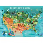 Puzzle   XXL Pieces - The United States of America
