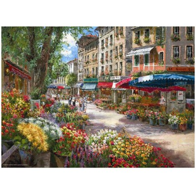 Puzzle Perre-Anatolian-3106 Sam Park: Paris, the flower market