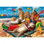 Puzzle  Perre-Anatolian-3322 Cats on The Beach