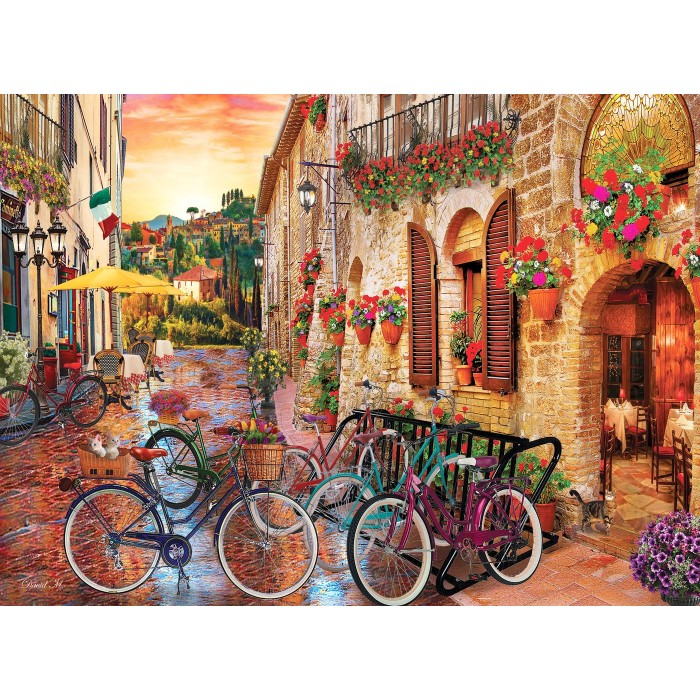 Biking in Tuscany Puzzle 1000 pieces