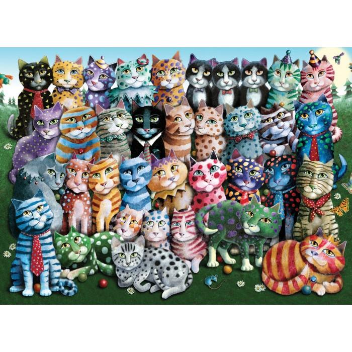 Cat Family Reunion Puzzle 1000 pieces