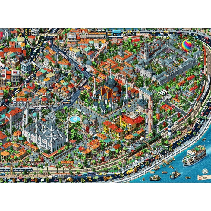 Fractal Istanbul Puzzle 3000 pieces
