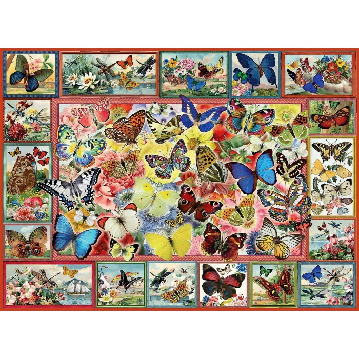 Lots Of Butterflies Puzzle 1000 pieces