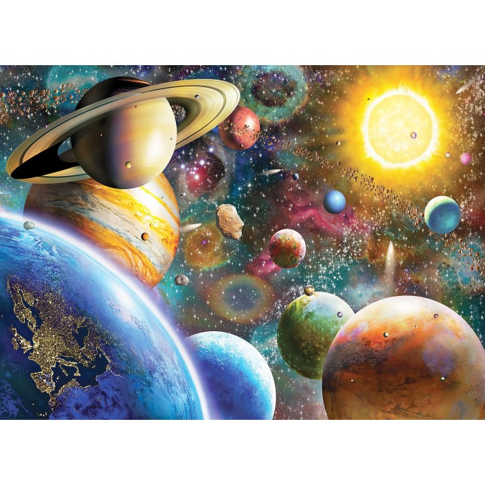 Planets in Space Puzzle 1000 pieces