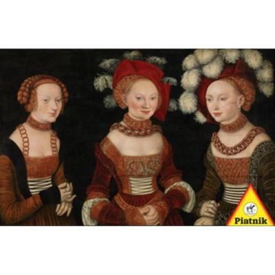 Piatnik-5342 Jigsaw Puzzle - 1000 Pieces - Lucas Cranach : The Three Princesses of Saxony