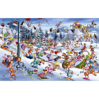 Piatnik-5351 Jigsaw Puzzle - 1000 Pieces - Ruyer : Christmas Skiing