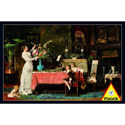 Piatnik-5359 Jigsaw Puzzle - 1000 Pieces - Munkacsy : The Birthday