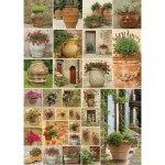 Puzzle  Piatnik-5455 Collage - Flowers