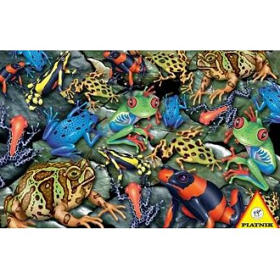 Piatnik-5552 Jigsaw Puzzle - 1000 Pieces - Frogs