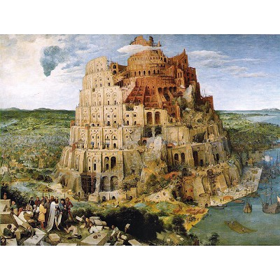 Piatnik-5639 Jigsaw Puzzle - 1000 Pieces - Brueghel : The Tower of Babel