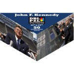 Pigment-and-Hue-DBLJFK-00904 Double Sided Puzzle -John Fitzgerald Kennedy