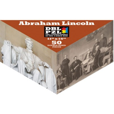 Pigment-and-Hue-DBLLINC-00803 Double sided Puzzle- Abraham Lincoln