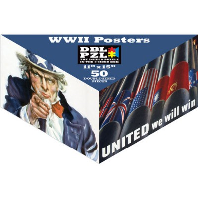 Pigment-and-Hue-DBLWWII-00902 Double sided Puzzle - Posters of the Second World War