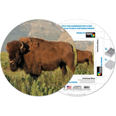Pigment-and-Hue-RBISON-41226 Already assembled round Puzzle - American Bison