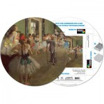 Pigment-and-Hue-RDEGAS-41203 Already assembled round Puzzle - Edgar Degas: Dancing lessons