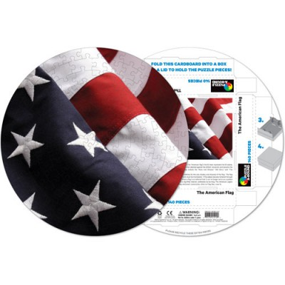 Pigment-and-Hue-RFLAG-41210 Already assembled round Puzzle - American Flag
