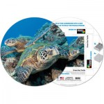 Pigment-and-Hue-RHONU-41224 Already assembled round Puzzle - Big sea turtle