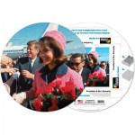 Pigment-and-Hue-RJFK-41221 Already assembled round Puzzle - John Fitzgerald and Jackie Kennedy