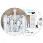 Pigment-and-Hue-RLINC-41201 Already assembled round Puzzle - The Lincoln Memorial