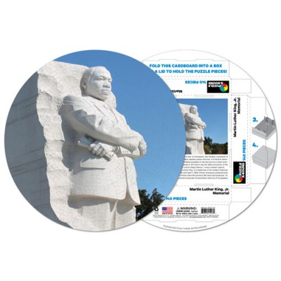 Pigment-and-Hue-RMLK-41213 Already assembled round Puzzle - Martin Luther King Memorial