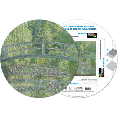Pigment-and-Hue-RMONET-41207 Already assembled round Puzzle - Claude Monet