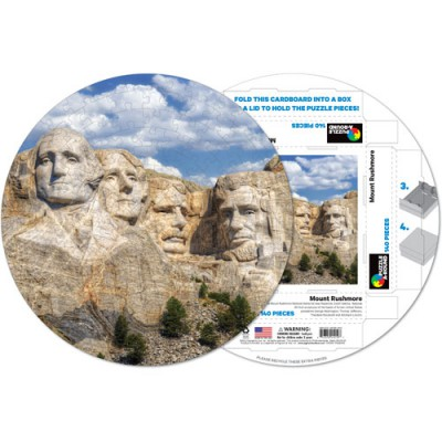 Pigment-and-Hue-RMTRUSH-41219 Already assembled round Puzzle - Mount Rushmore