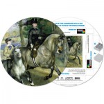 Pigment-and-Hue-RRENR-41205 Already assembled round Puzzle - Pierre Renoir: Woman riding horse