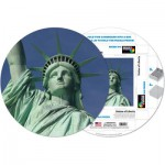 Pigment-and-Hue-RSOL-41217 Already assembled round Puzzle - The Statue of Liberty