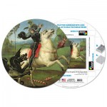 Pigment-and-Hue-RSTGEO-41304 Already assembled round Puzzle - Raphael: St. George fighting with the Dragon