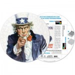 Pigment-and-Hue-RUNCLE-41209 Already assembled round Puzzle - Uncle Sam