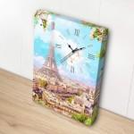 Puzzle   Canvas with Clock - Spring in Paris