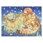 Puzzle   Cotton Lion - Christmas Night & Cats