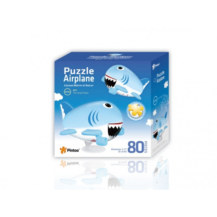 3D Airplane Puzzle - The Shark Plane