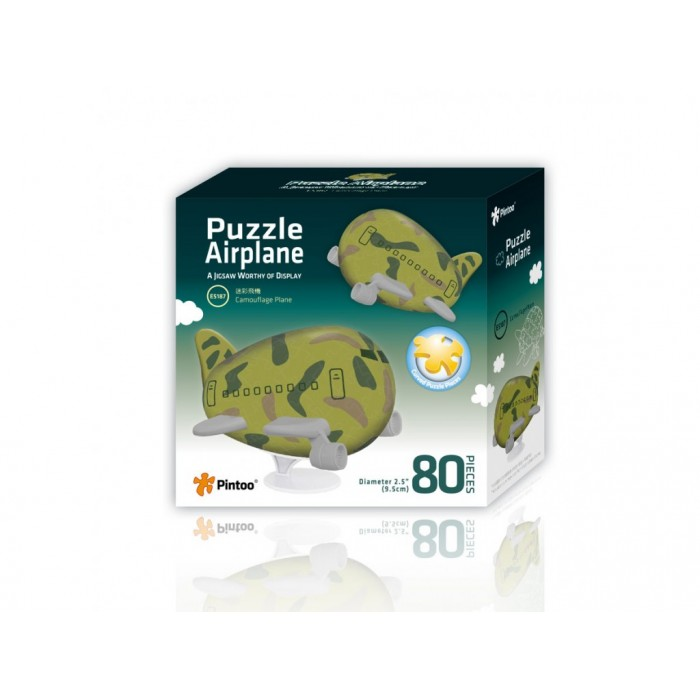 3D Airplane Puzzle - Camouflage