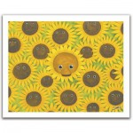 Pintoo-H1053 Plastic Puzzle-Smart: cool Bears with sunflowers