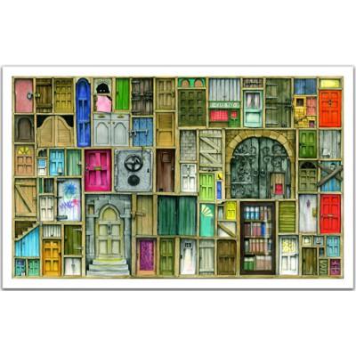 Pintoo-H1201 Plastic Puzzle- closed doors