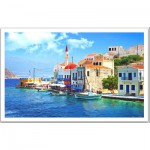 Pintoo-H1240 Plastic Puzzle - Greece The beautiful bay