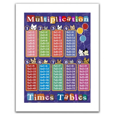 Pintoo-H1375 Plastic Puzzle-Multiplication table