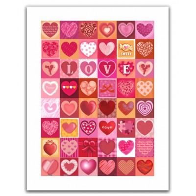 Pintoo-H1403 Plastic Puzzle- Love