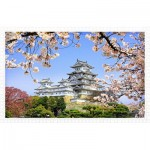 Pintoo-H1436 Plastic Puzzle - Himeji-jo Castle in Spring Cherry Blossoms